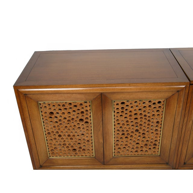 Image of Signed Pierre Bartet Walnut Bar Cabinet