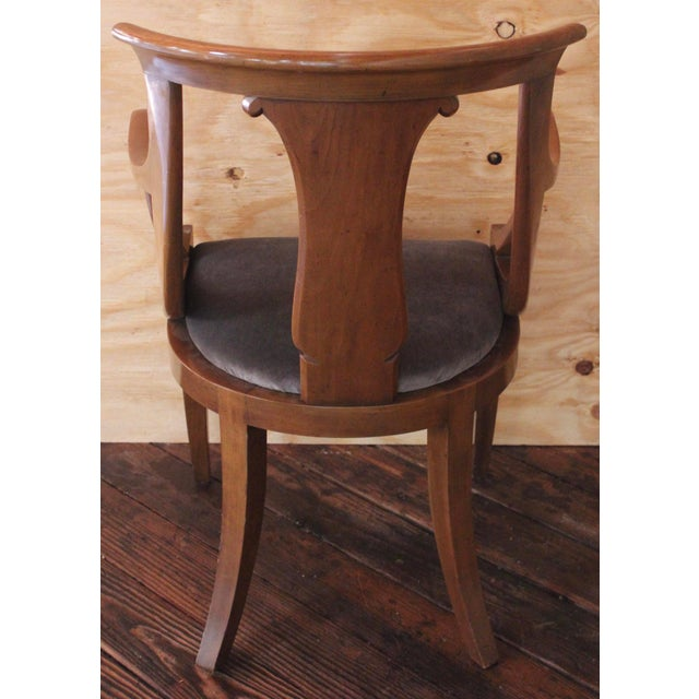 "Empire ""Chaise en Gondole"" Fruitwood Baker Dining Chairs - Set of Four - Image 7 of 8"