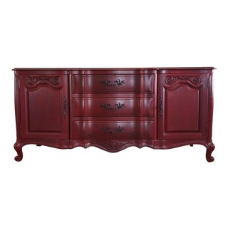 Red French Provincial Buffet