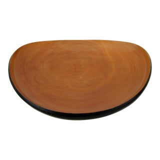 Arced Cherry Wood Centerpiece Bowl