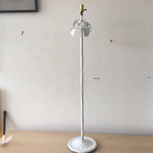 Image of Italian Faux Bamboo Palm Tree Floor Lamp