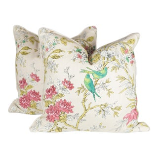 Chinoiserie Bird Pillows - A Pair