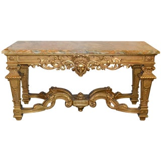 Fine 19th C. French Regence Giltwood Console