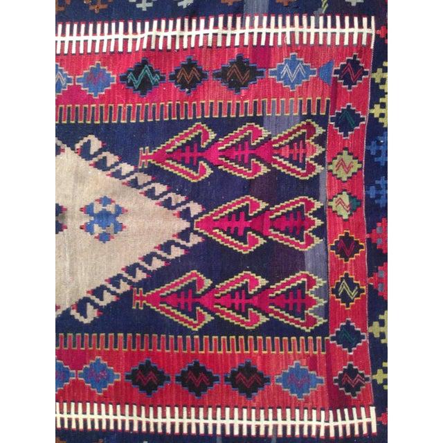 Vintage Turkish Prayer Kilim 4' X 6' - Image 8 of 8
