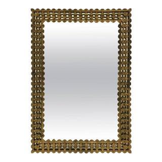 French Gilt Bronze Mirror