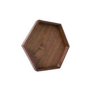 Wooden Hexagon Tray