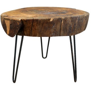 Live Edge Slab Table with Hairpin Legs