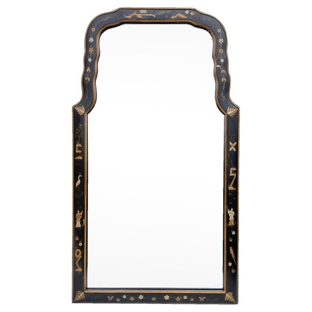 Japaned Lacquer Arch Mirror - Image 1 of 6