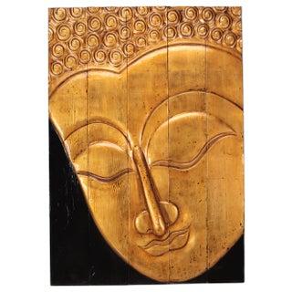 Sarreid LTD Gilt Buddha Head Paneled Plaque