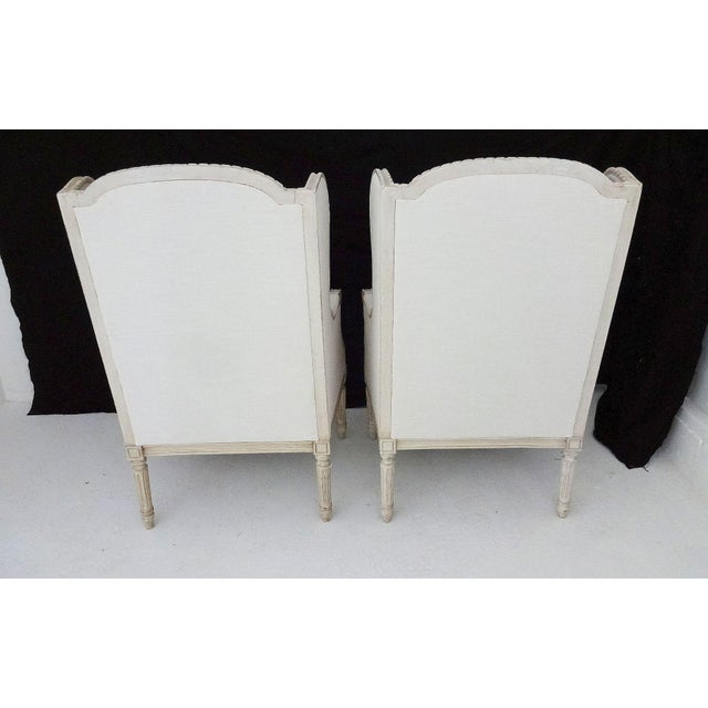 Antique Bergere Wingback Chairs - A Pair - Image 6 of 8
