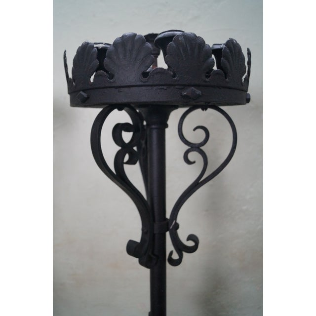 Quality Wrought Iron Torchieres Candle Holders - Image 4 of 10