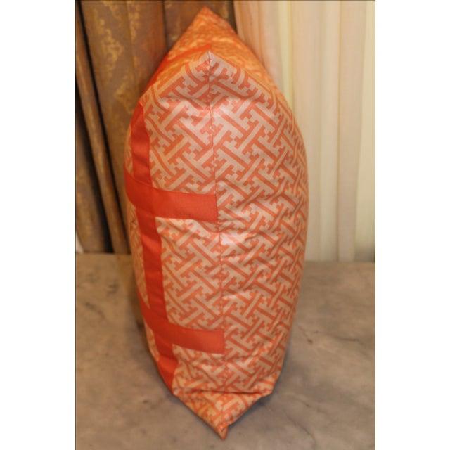 Orange Greek Key Pillow - Image 5 of 6