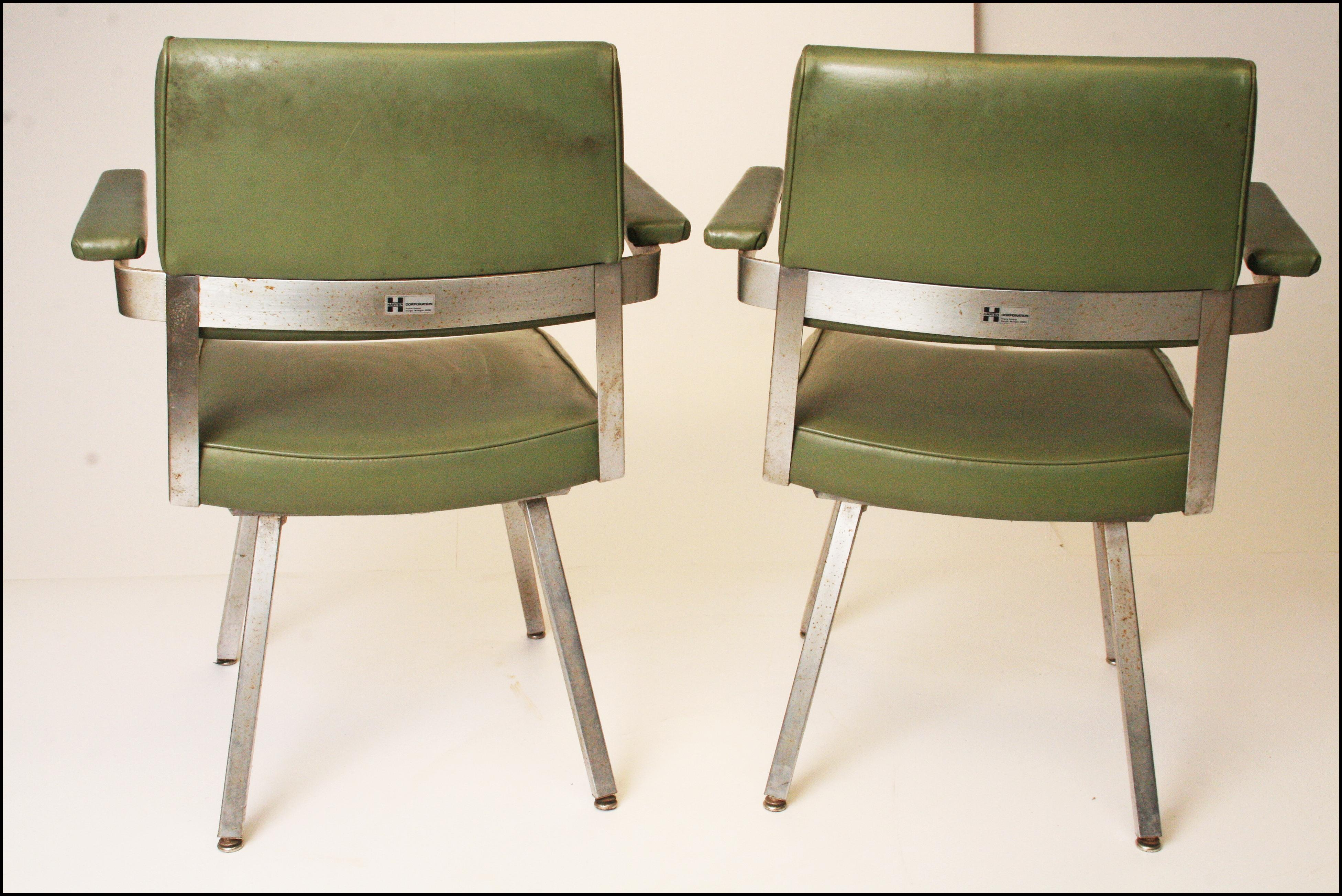 Harter Mid Century Modern Industrial Office Chairs  A Pair   Image 5 Of 11