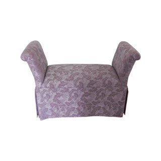 Cushioned Bench with Purple Fabric
