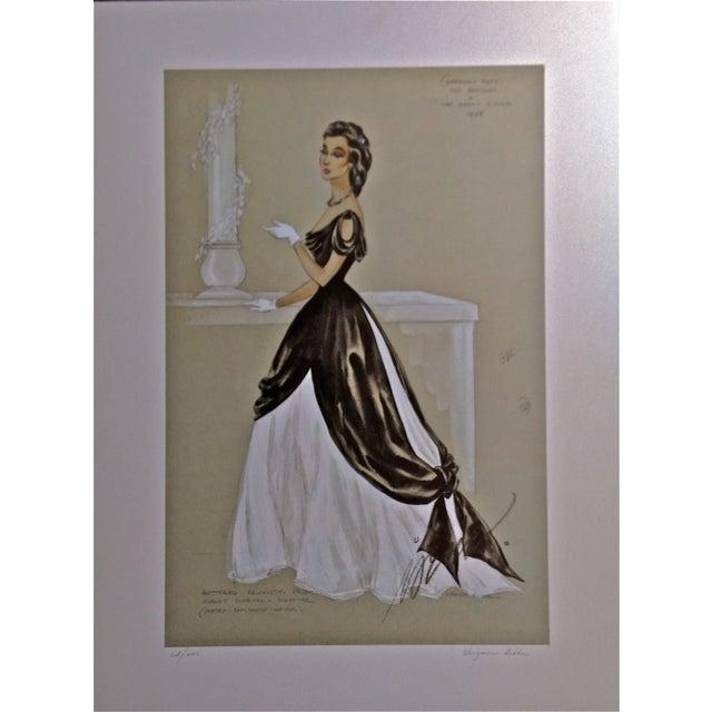The Great Sinner Velvet Draped Skirt Lithograph - Image 1 of 9