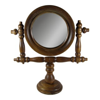 French Gentleman's Barber Shop Shaving Mirror Stand