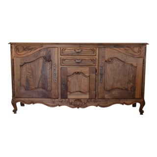 Antique French Louis XV Walnut Sideboard