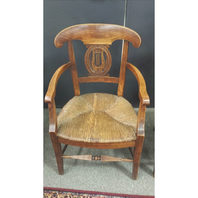 Antique French Lyre Back Armchairs - A Pair - Image 7 of 11