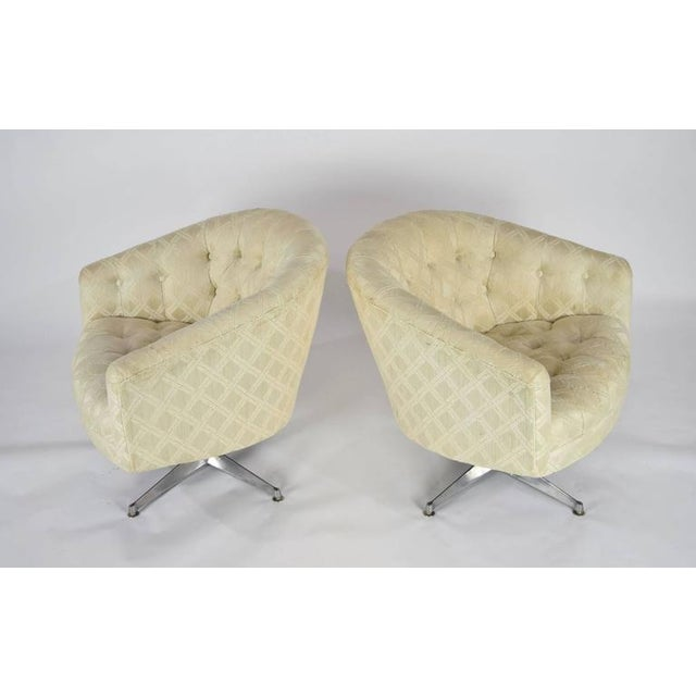 Pair of Ward Bennett Swivel Lounge or Club Chairs - Image 2 of 6