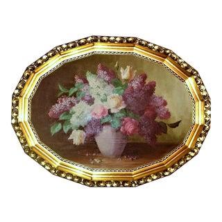 Gold Gilt Framed Floral Painting