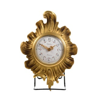 Antique Gubelin Lucerne Gilt Bronze Clock