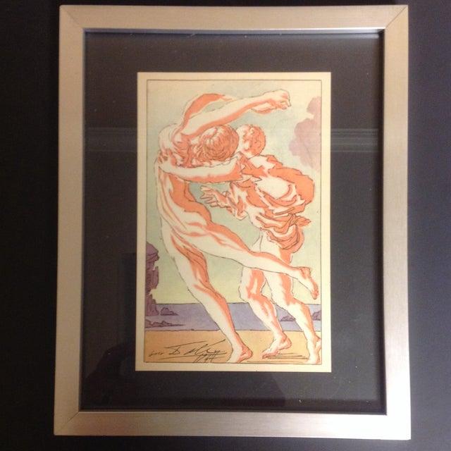 Salvador Dali Original 1947 Color Lithograph - Image 2 of 3
