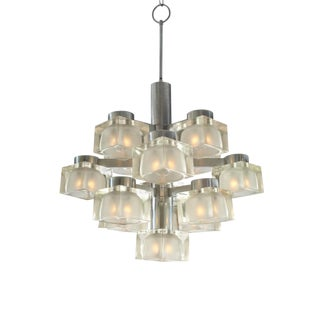 Gaetano Sciolari for Lightolier Ice Block Chandelier