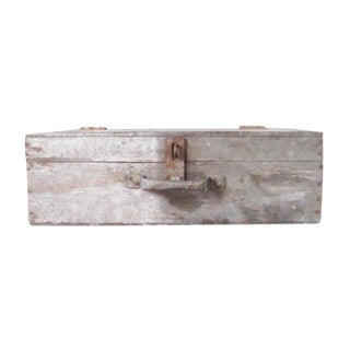 Vintage Rustic Tool Box With Latch