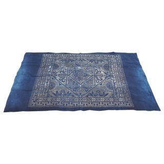 Homespun Indigo Tribal Batik Throw