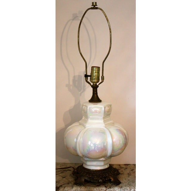 Mid-Century Opalescent Lamp - Image 2 of 4