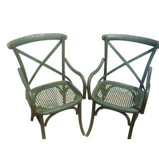 Restoration Hardware Madeleine X-Back Chairs, Pair