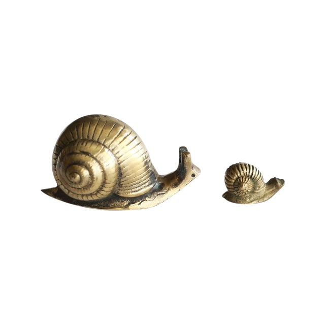 Solid Brass Snails - Pair - Image 1 of 5