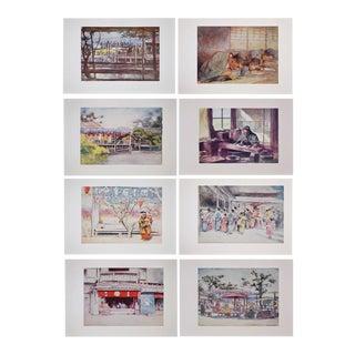Antique Prints of Japan by M. Menpes -Set of 8