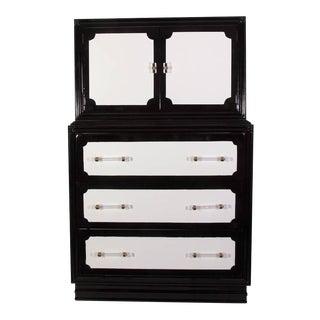 Vintage Lacquered Gentleman's Highboy Dresser