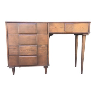 Solid Wood Mid-Century Desk