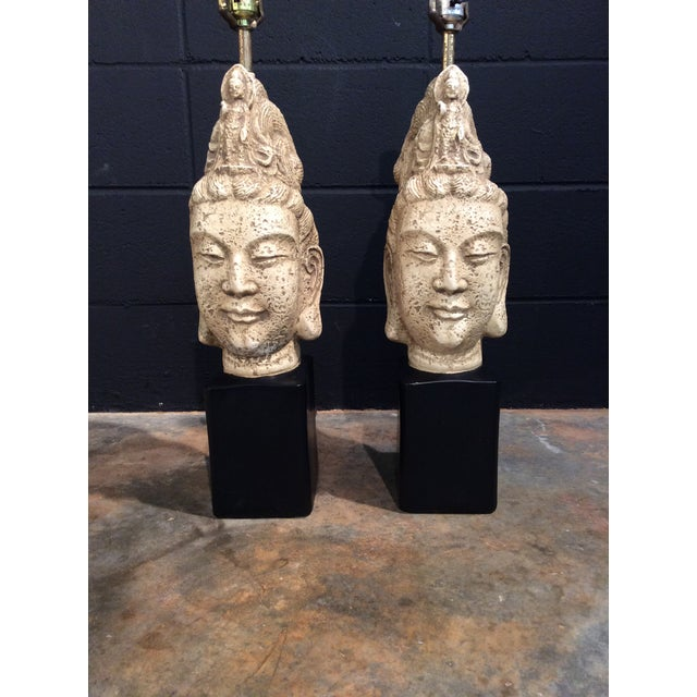 James Mont Buddha Lamps - A Pair - Image 3 of 11