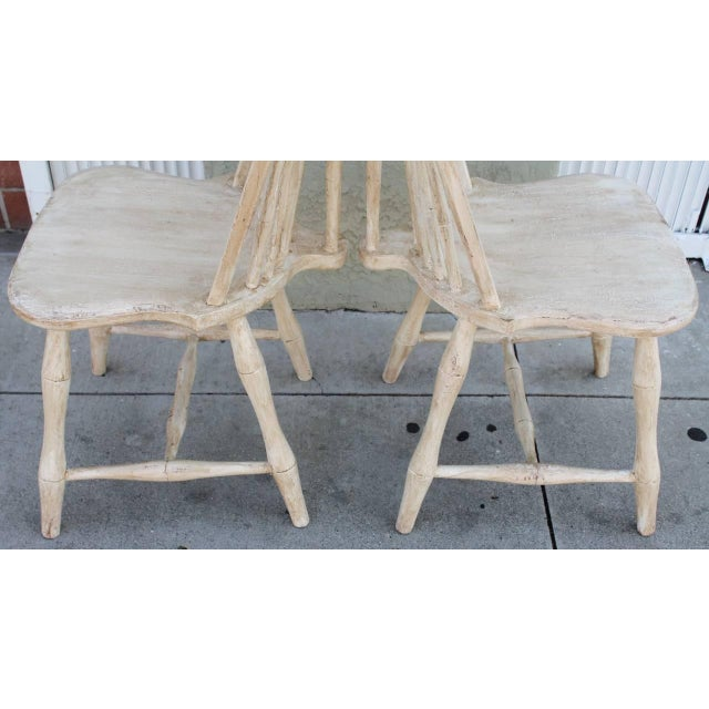 Pair of 19th Century White Painted Windsor Chairs - Image 6 of 8