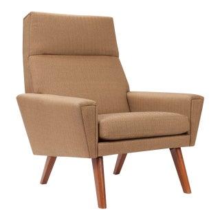 1950s Herringbone Tall Back Chair