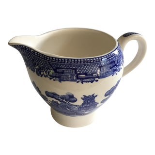 Alfred Meakin Old Willow Blue Creamer Pitcher