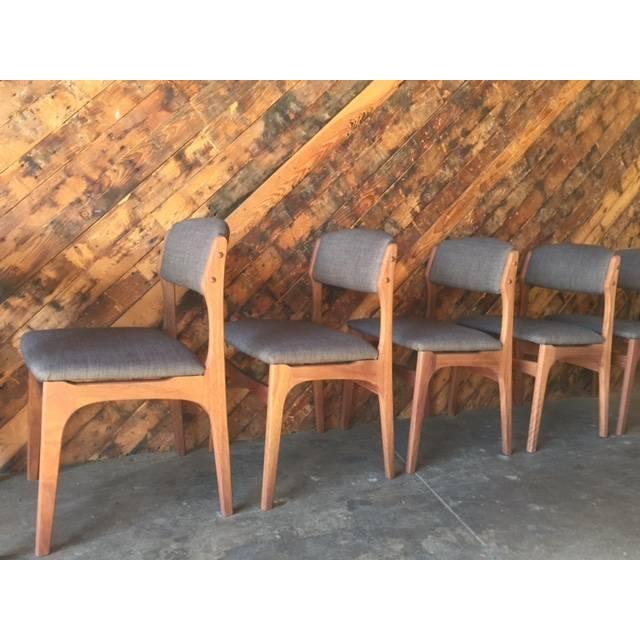 Image of Refinished Danish Teak Dining Chairs - Set of 6