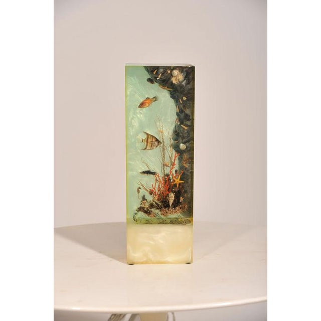 "Image of Italian Lucite Lighted ""Under-the-Sea"" Aquarium Sculpture"