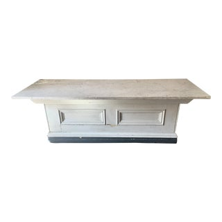 White Marble Top Sideboard / Retail Counter
