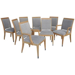 Eight Cerused Oak Dining Chairs by Jay Spectre