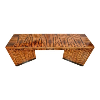 Vaughan Benz Macassar Ebony Art Deco Style Designer Console Table