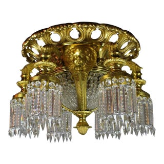 Crystal Commercial Lobby Fixture with Cherubs (10-Light)