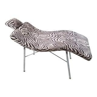 Vintage Scupltural Chaise Lounge