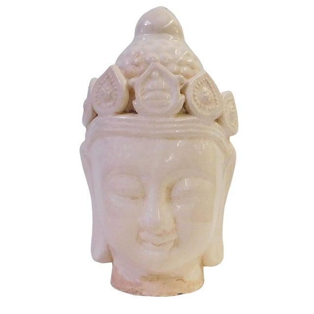Chinese Ceramic Clay Kwan Yin Head Figure - Image 7 of 7