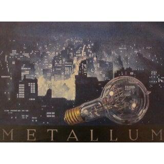 Framed 1923 Austrian Art Deco Poster, Lightbulb