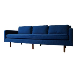 Blue Mid Century MODERN SOFA couch
