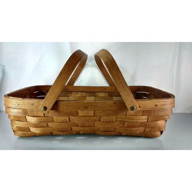 Woven Gathering Basket : Vintage basketville woven gathering basket chairish